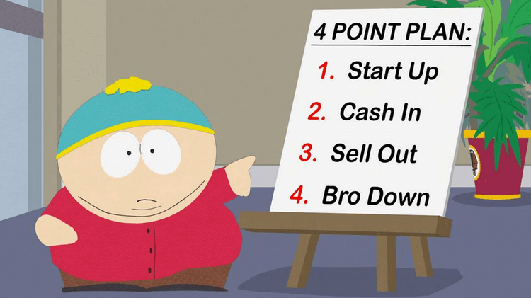 Cartman Startup Cash in Bro Down